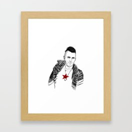 The coolest man in the World. Framed Art Print