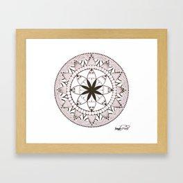Mandala of Jasmine (White) Framed Art Print