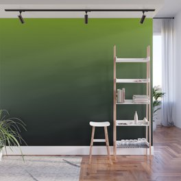 Ombre | Color Gradients | Gradient | Two Tone | Lime Green | Charcoal Grey | Wall Mural