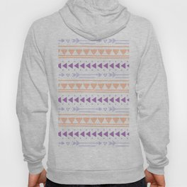 Modern geometric abstract hand painted tribal pattern Hoody