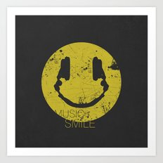 Music Smile Art Print