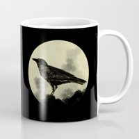 crow Mugs featuring Crow by Arts and Herbs