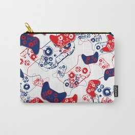 Video Game Red White & Blue 3 Carry-All Pouch