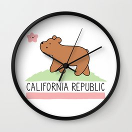 Kawaii California Republic Wall Clock