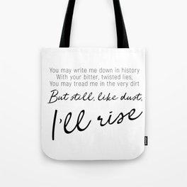 I'll rise #minimalism Tote Bag