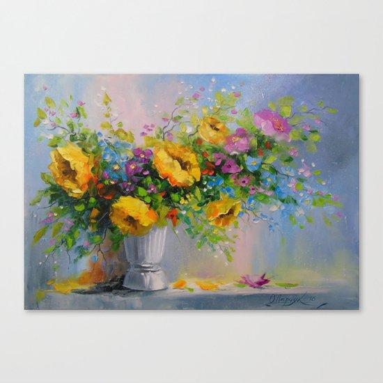Bouquet de fleurs jaunes Canvas Print