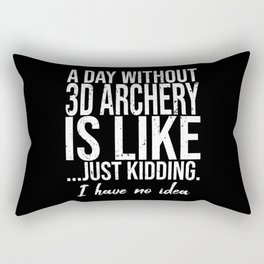 3D Archery funny sports gift Rectangular Pillow