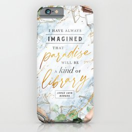 Paradise library iPhone Case
