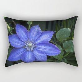 Clematis Flower Rectangular Pillow