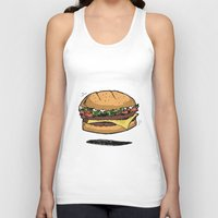 burger Tank Tops featuring BURGER by Anthony Morell