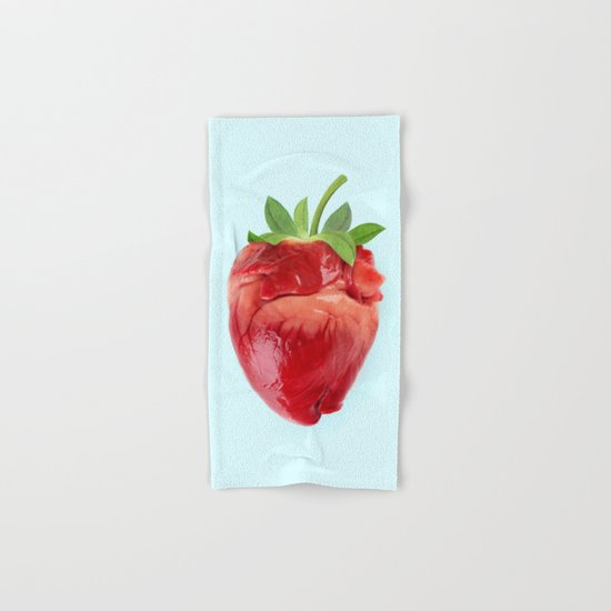 STRABERRY HEART Hand & Bath Towel