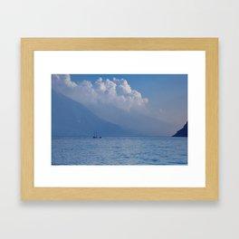 Lake Garda in the Blue Mist Framed Art Print