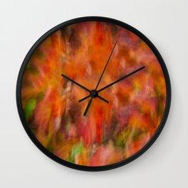 Autumn Smear Wall Clock