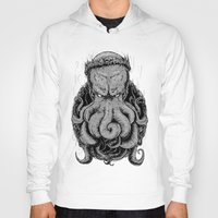 cthulu Hoodies featuring The Octopus KIng by StinkBrain
