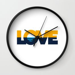 LOVE - People's Flag of Milwaukee Wall Clock