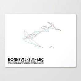Bonneval Sur Arc, Savoie, FRA - North American Edition - Minimalist Trail Art Canvas Print