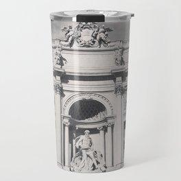 Trevi Fountain, black & white photography of Rome, fine art architecture, italian architectural love Travel Mug