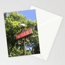 Paris Metro Sign Stationery Cards