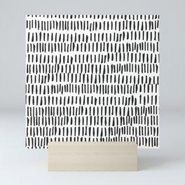 Black & White Lines  Mini Art Print