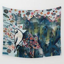 city bird Wall Tapestry