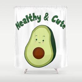 Healthy & Cute Shower Curtain