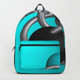 trapped -2of3- turquoise Backpack