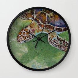 Caribbean Sea Turtle Wall Clock