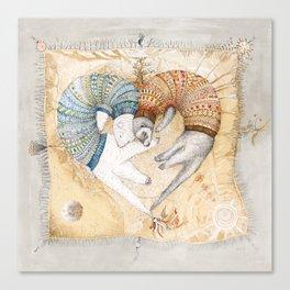 Ferret love Canvas Print