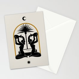 The golden fountain II Stationery Cards