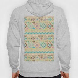 Abstract burgundy pink teal yellow aztec tribal pattern Hoody