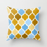 moroccan Throw Pillows featuring Moroccan  by Saundra Myles