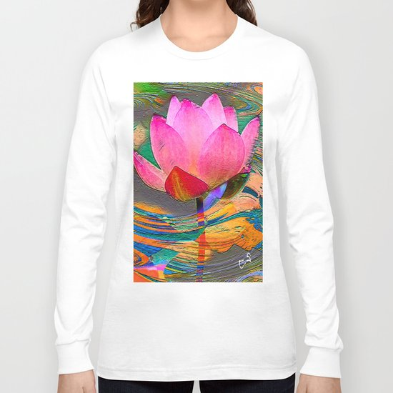 """ The ideas are seeds of lotus, they sleep only to grow better "" Long Sleeve T-shirt"