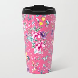 Floral Chinoiserie - Pink Travel Mug
