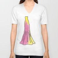 gryffindor V-neck T-shirts featuring Gryffindor Dress by AlwaysRiverose