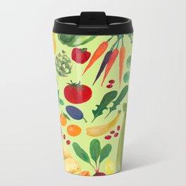 Fruits and Veggies Metal Travel Mug