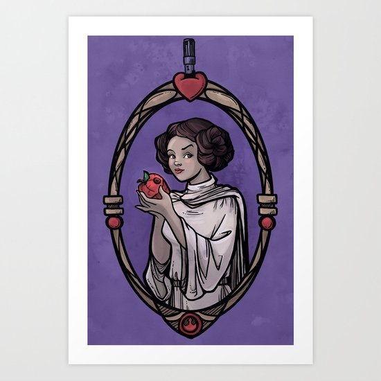 Snow Organa and the Poisoned Death Star Art Print