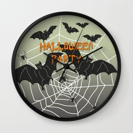 Bats- Halloween Party Wall Clock