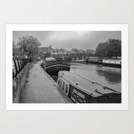 Ely Riverside, Cambridgeshire Art Print