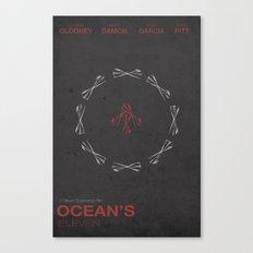 Ocean's Eleven Minimalist Poster Canvas Print
