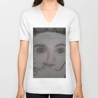 niall horan V-neck T-shirts featuring Niall Horan by Alex Rosalez