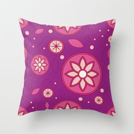 Pattern of stylized design lotus flowers Throw Pillow