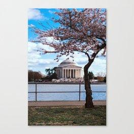 """Jefferson Memorial"" - DC Cherry Blossom Festival Canvas Print"