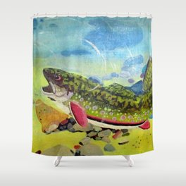 Hungry Trout Shower Curtain