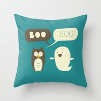dead Throw Pillows featuring Boo Hoo by AGRIMONY // Aaron Thong