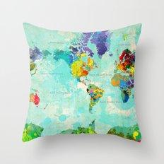 World Map - 6 Throw Pillow
