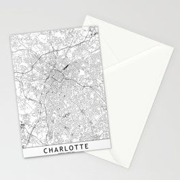 Charlotte White Map Stationery Cards