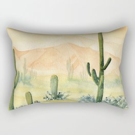 Desert Sunset Landscape Rectangular Pillow