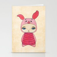 tigger Stationery Cards featuring A Boy - Piglet (porcinet) by Christophe Chiozzi