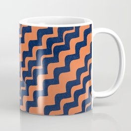 Enigmatic blue and terracotta design Coffee Mug