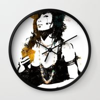 poker Wall Clocks featuring Poker by Oody
